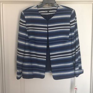 Blue and White Stripe suit jacket